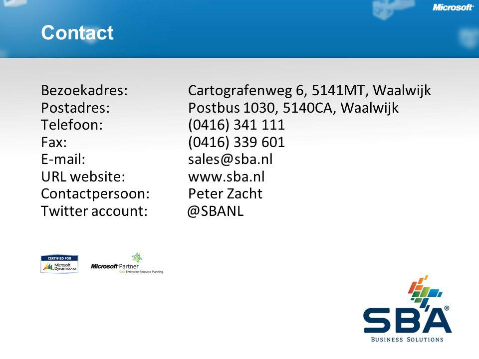 Bezoekadres: Cartografenweg 6, 5141MT, Waalwijk Postadres: Postbus 1030, 5140CA, Waalwijk Telefoon: (0416) 341 111 Fax: (0416) 339 601 E-mail: sales@s
