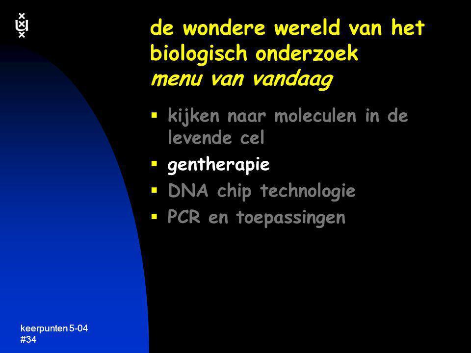 keerpunten 5-04 #34  kijken naar moleculen in de levende cel  gentherapie  DNA chip technologie  PCR en toepassingen de wondere wereld van het bio