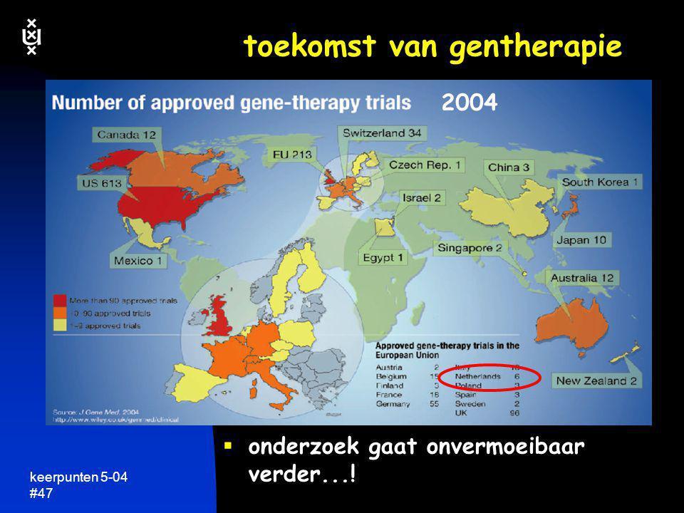 keerpunten 5-04 #47 toekomst van gentherapie  onderzoek gaat onvermoeibaar verder...! 2004