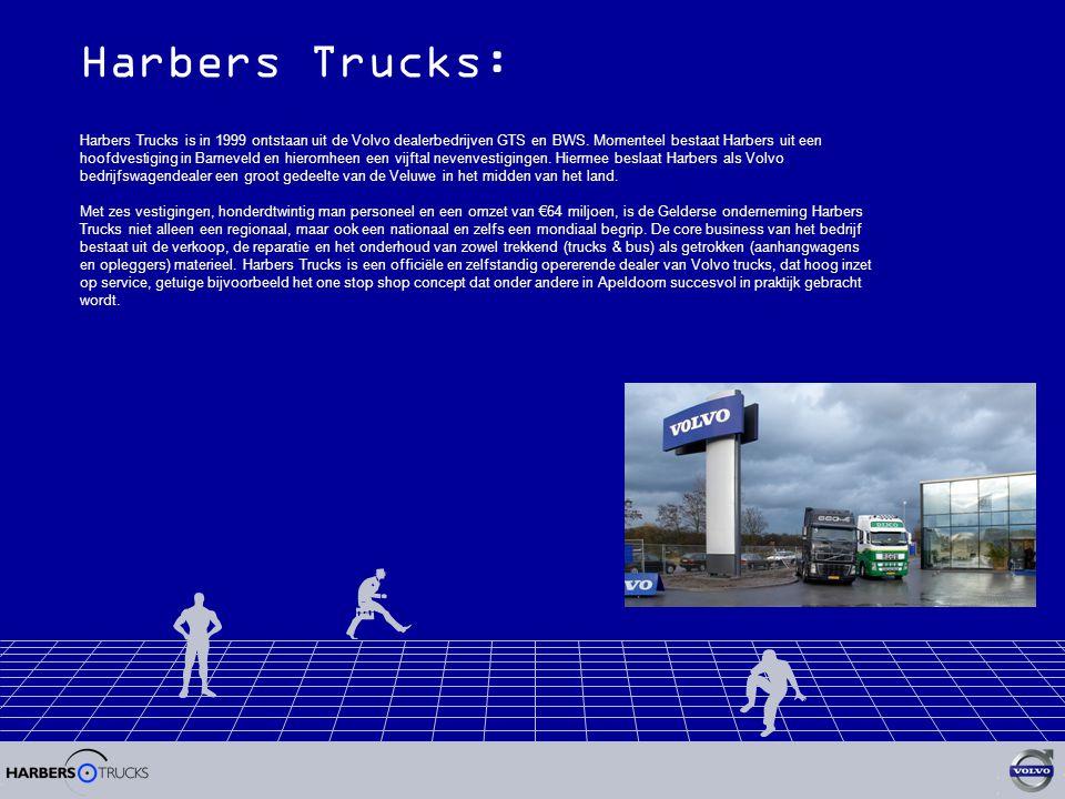 Harbers Trucks: Harbers Trucks is in 1999 ontstaan uit de Volvo dealerbedrijven GTS en BWS.