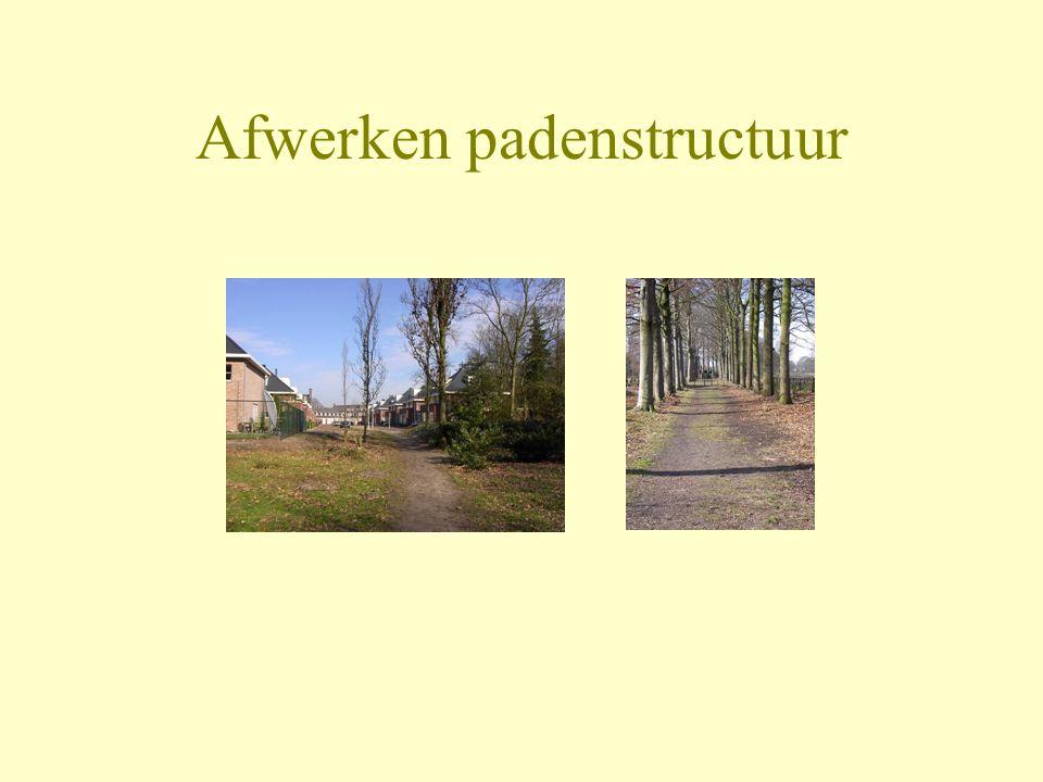 Afwerken padenstructuur