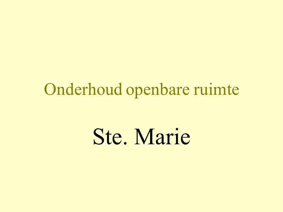 Onderhoud openbare ruimte Ste. Marie