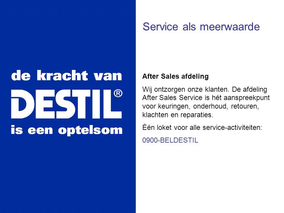 Service als meerwaarde After Sales afdeling Wij ontzorgen onze klanten. De afdeling After Sales Service is hét aanspreekpunt voor keuringen, onderhoud
