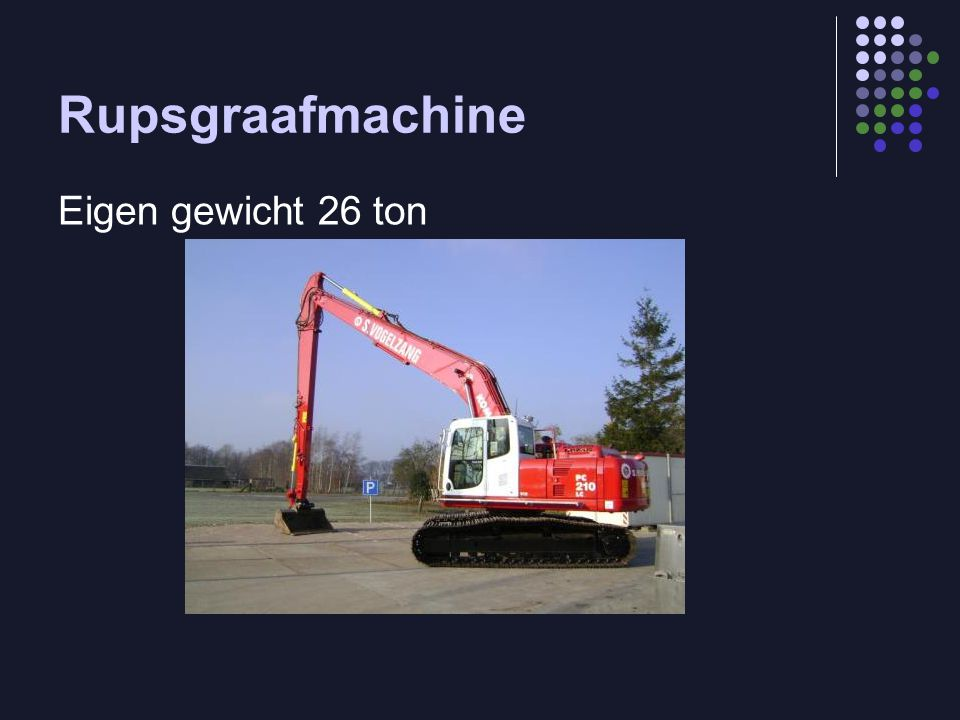 Rupsgraafmachine Eigen gewicht 26 ton