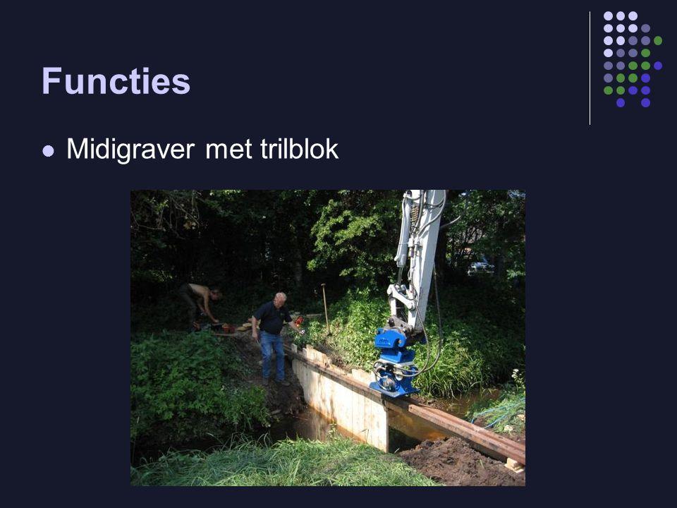Functies  Midigraver met trilblok