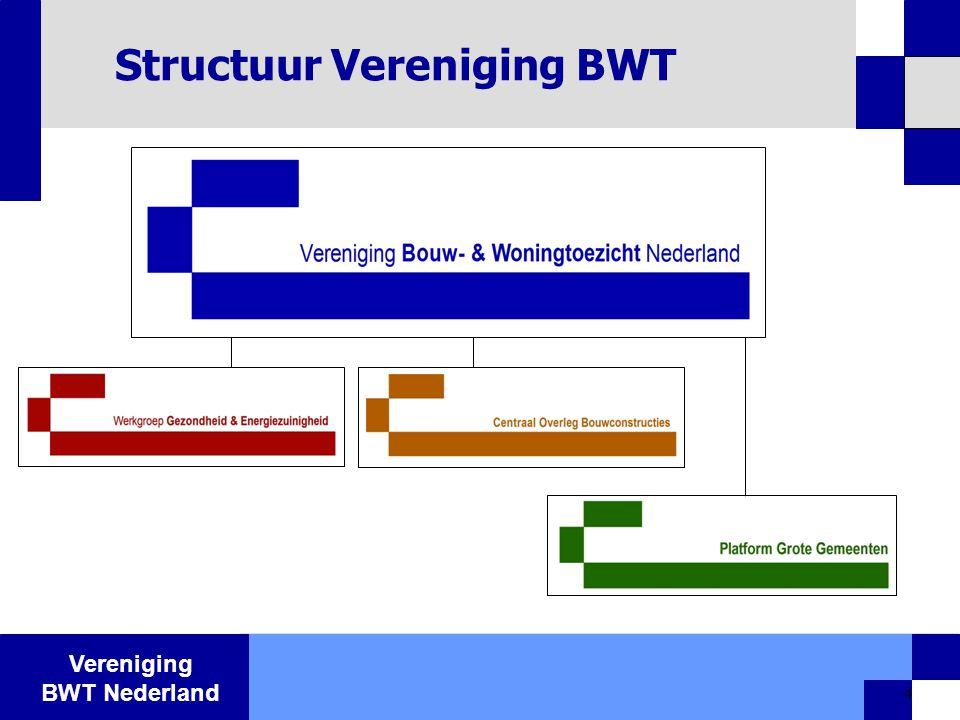 Vereniging BWT Nederland 4 Structuur Vereniging BWT