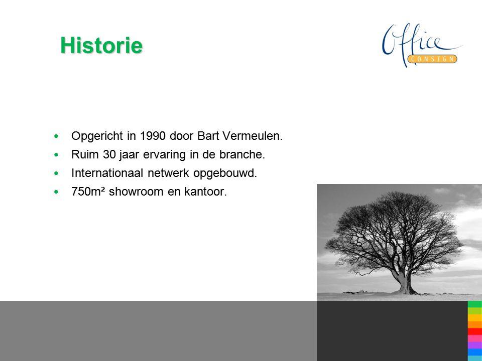 Historie • Opgericht in 1990 door Bart Vermeulen. • Ruim 30 jaar ervaring in de branche.