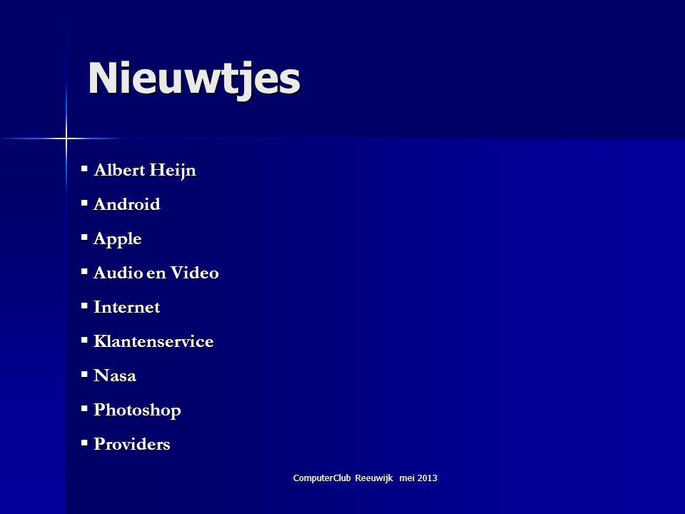 ComputerClub Reeuwijk mei 2013 Het netwerk instellen 7