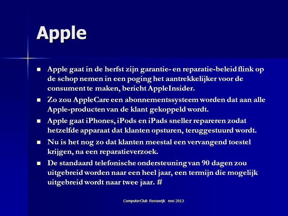 Apple   Apple gaat in de herfst zijn garantie- en reparatie-beleid flink op de schop nemen in een poging het aantrekkelijker voor de consument te ma