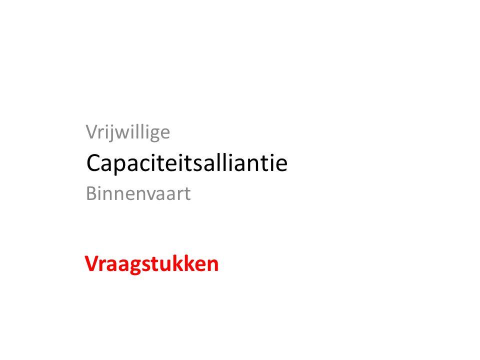 Capaciteitsalliantie Vrijwillige Binnenvaart Vraagstukken