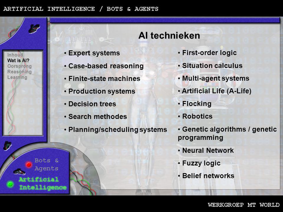 Het verschil tussen academische en game AI Inhoud Wat is AI.