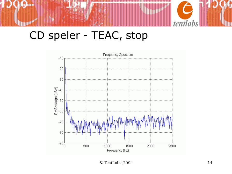 © TentLabs, 200414 CD speler - TEAC, stop