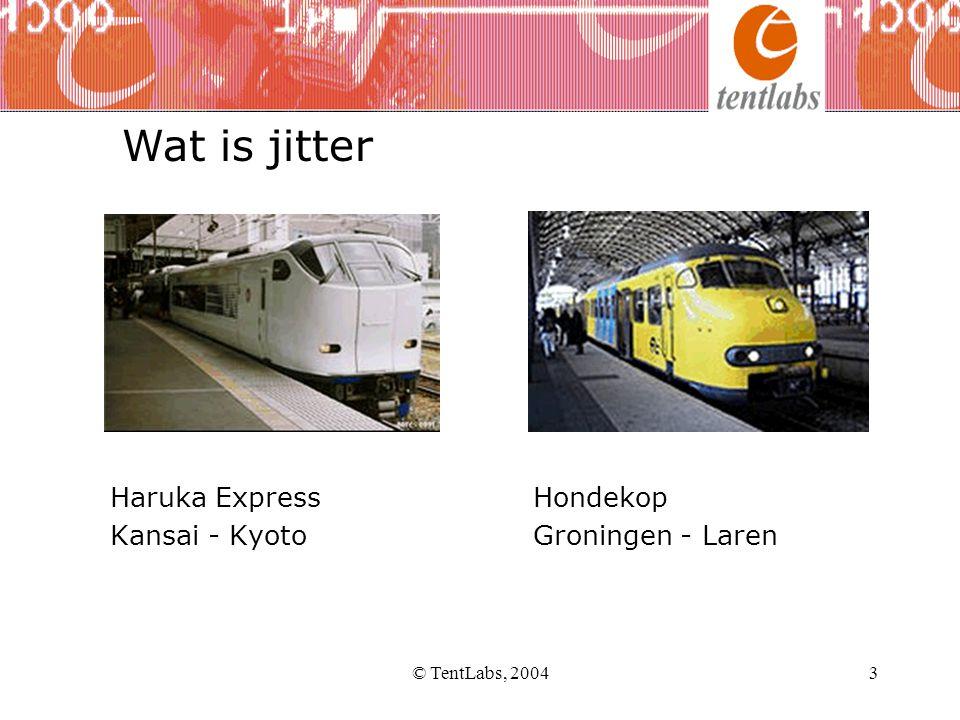 © TentLabs, 20043 Haruka Express Hondekop Kansai - Kyoto Groningen - Laren Wat is jitter