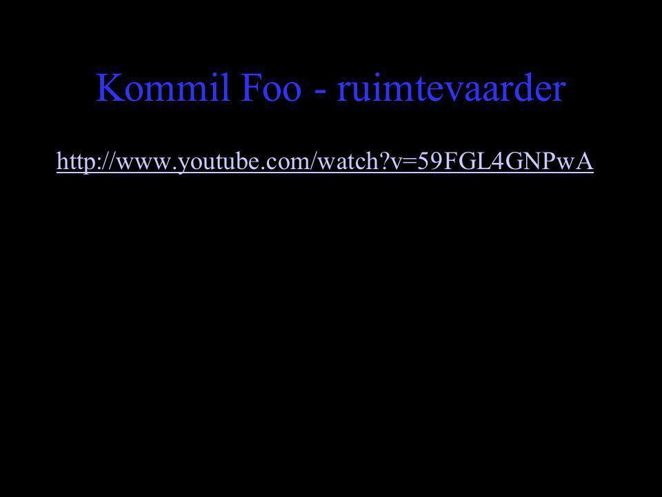 Kommil Foo - ruimtevaarder http://www.youtube.com/watch?v=59FGL4GNPwA