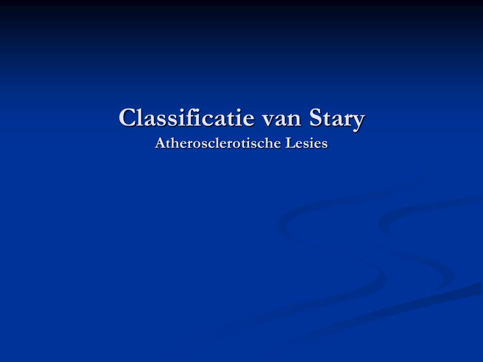 Classificatie van Stary  Doelen:  Vorming van een standaardclassificatie  Basis voor diagnose van ontwikkelingsniveau in individuen en populaties  Vorming van een basis voor herkenning van veranderingen (prognose) geïnduceerd door ingrepen