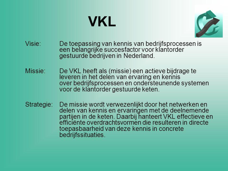 VKL Visie:De toepassing van kennis van bedrijfsprocessen is een belangrijke succesfactor voor klantorder gestuurde bedrijven in Nederland.