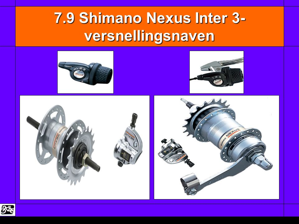 7.9 Shimano Nexus Inter 3- versnellingsnaven