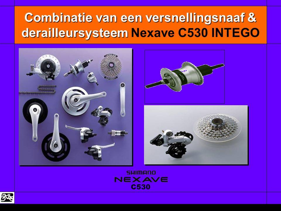 Combinatie van een versnellingsnaaf & derailleursysteem Combinatie van een versnellingsnaaf & derailleursysteem Nexave C530 INTEGO C530