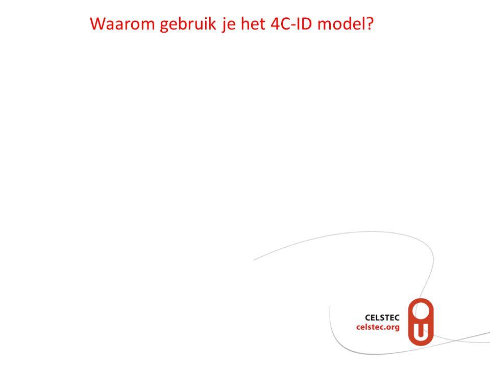 Waarom gebruik je het 4C-ID model?