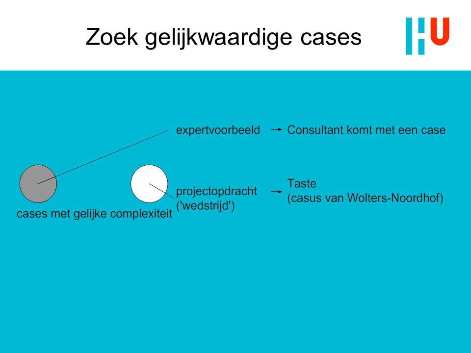 Zoek gelijkwaardige cases