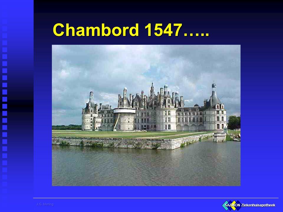 SAZINON Ziekenhuisapotheek Chambord 1547…..