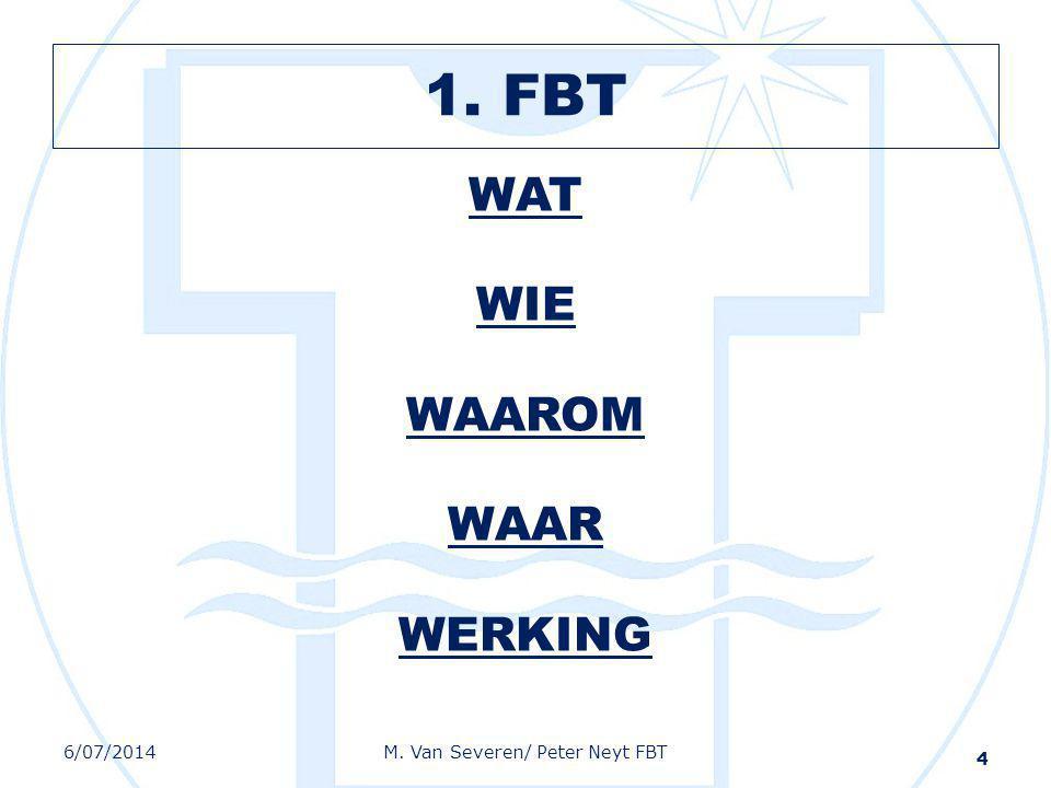 1. FBT WAT WIE WAAROM WAAR WERKING 4 6/07/2014M. Van Severen/ Peter Neyt FBT