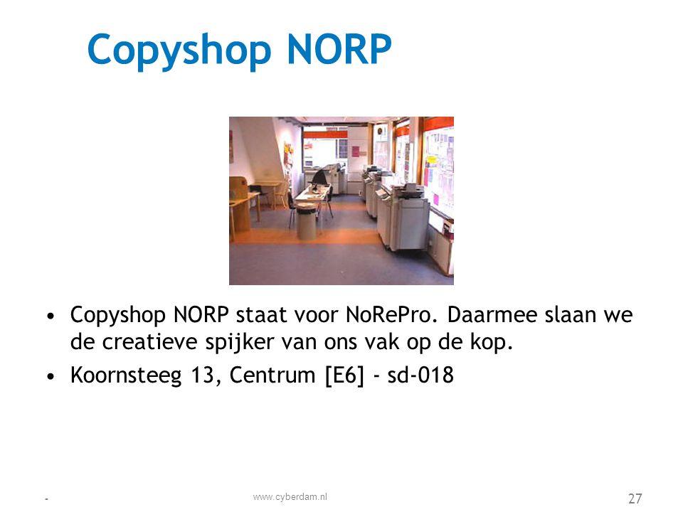 De Dokken •In De Dokken wordt de oude havens van Cyberdam nieuw leven in geblazen met bewoning en recreatie.