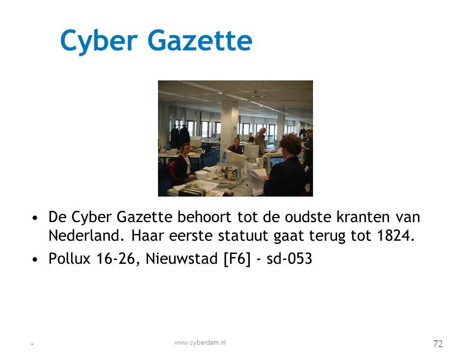 Cyberdam Beton Groep •De Cyberdam Beton Groep is een erkend hoofdaannemer voor de publieke en de private sector.