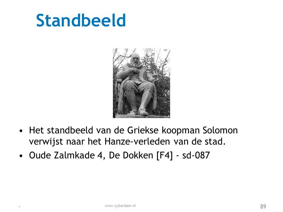Stichting Onderdak (OD) •De stichting OnderDak (OD) is een stichting voor thuis- en daklozen •Parellelweg 19, De Dokken [H8] - sd-111 www.cyberdam.nl -90