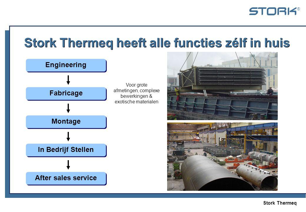 Stork Thermeq ® Stork Thermeq heeft alle functies zélf in huis Engineering Fabricage Montage In Bedrijf Stellen After sales service Voor grote afmetin