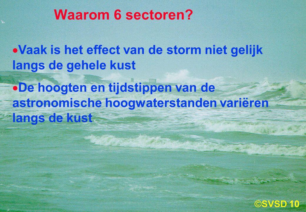 10 Waarom 6 sectoren.