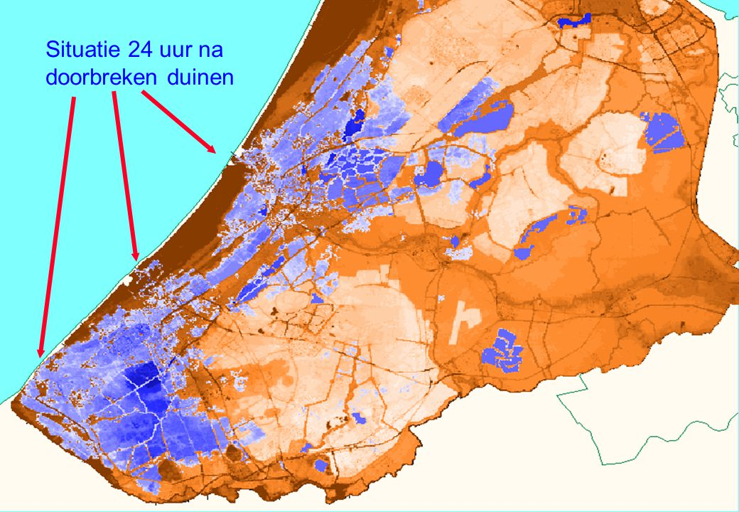 43 Situatie 24 uur na doorbreken duinen