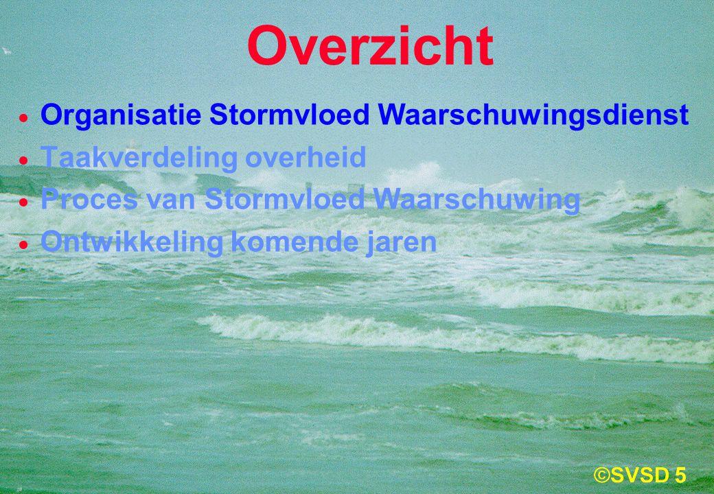 5  Organisatie Stormvloed Waarschuwingsdienst  Taakverdeling overheid  Proces van Stormvloed Waarschuwing  Ontwikkeling komende jaren Overzicht