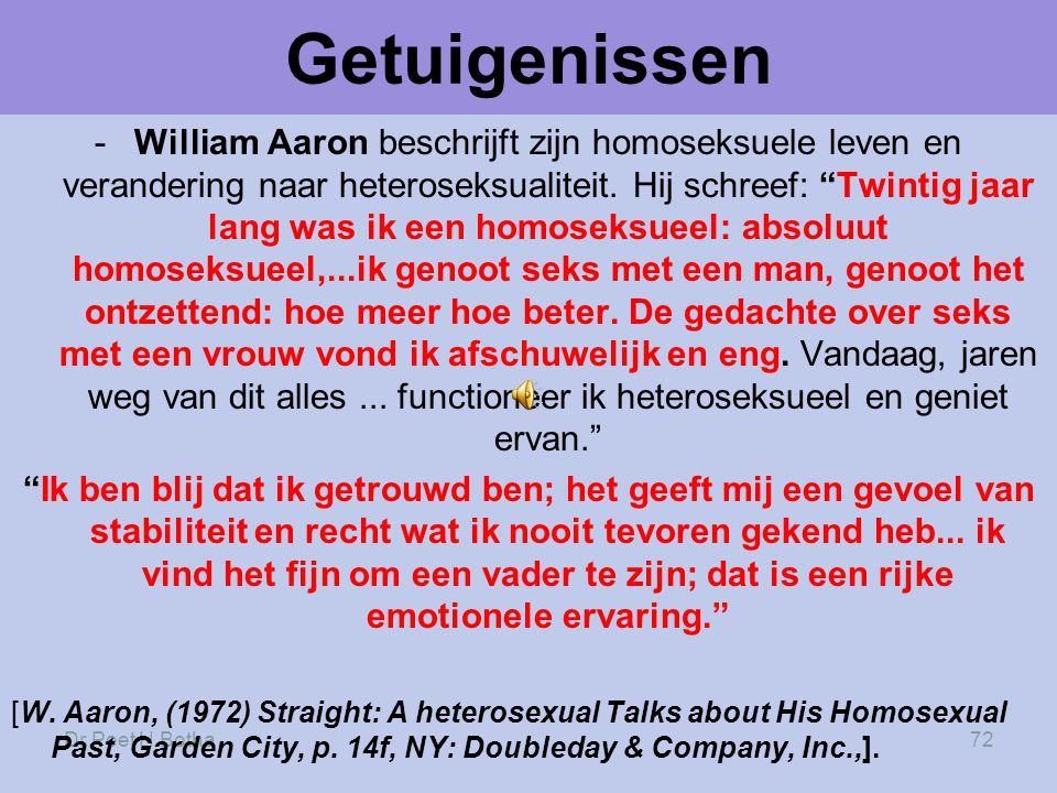 Dr Peet H Botha72 Getuigenissen -William Aaron beschrijft zijn homoseksuele leven en verandering naar heteroseksualiteit.