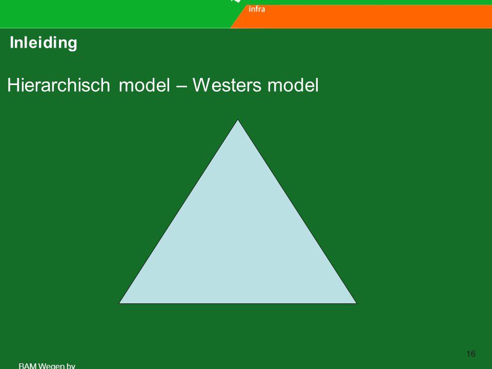 www.aspari.nl BAM Wegen bv 16 Inleiding Hierarchisch model – Westers model