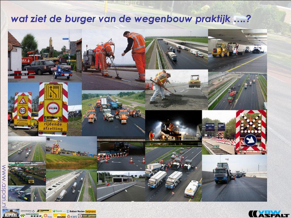 www.aspari.nl wat ziet de burger van de wegenbouw praktijk ….