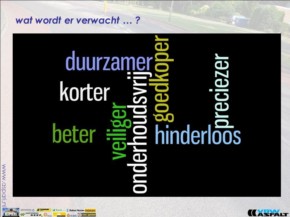 www.aspari.nl wat wordt er verwacht … ?