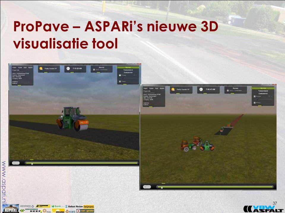 www.aspari.nl ProPave – ASPARi's nieuwe 3D visualisatie tool 37