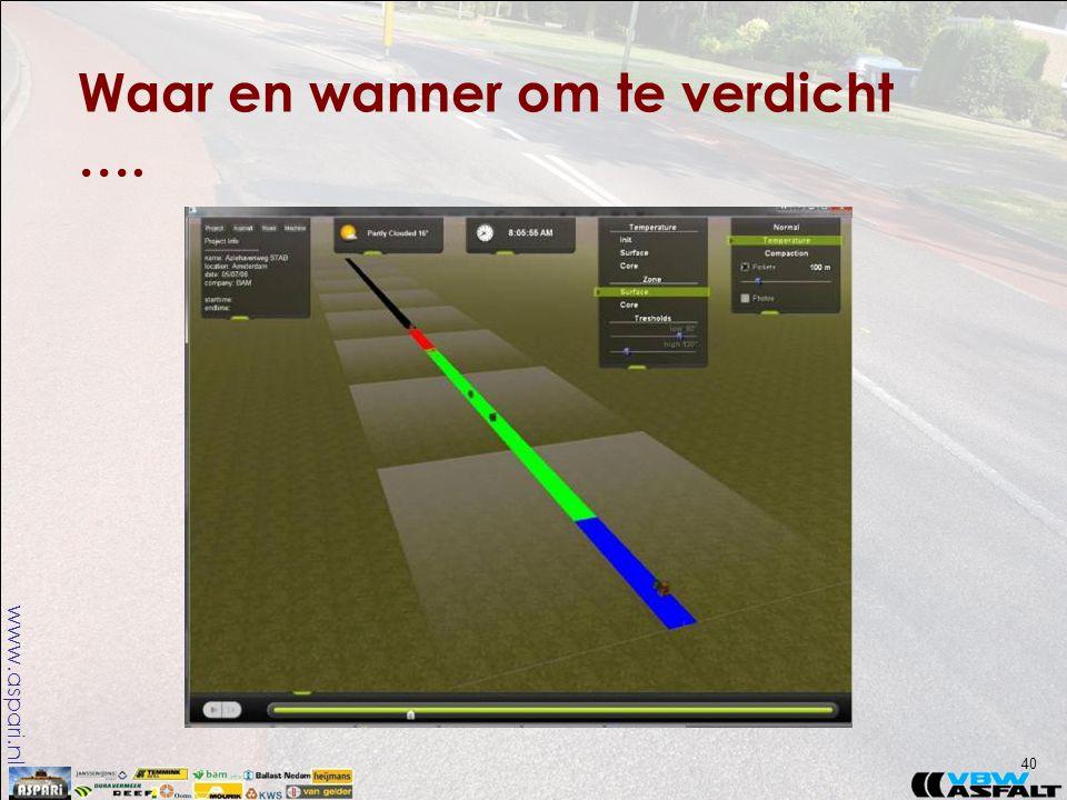 www.aspari.nl Waar en wanner om te verdicht …. 40