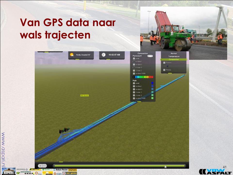 www.aspari.nl Van GPS data naar wals trajecten 41