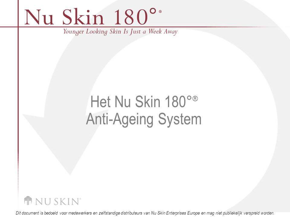 © 2001 Nu Skin International, Inc Dit document is bedoeld voor medewerkers en zelfstandige distributeurs van Nu Skin Enterprises Europe en mag niet publiekelijk verspreid worden.