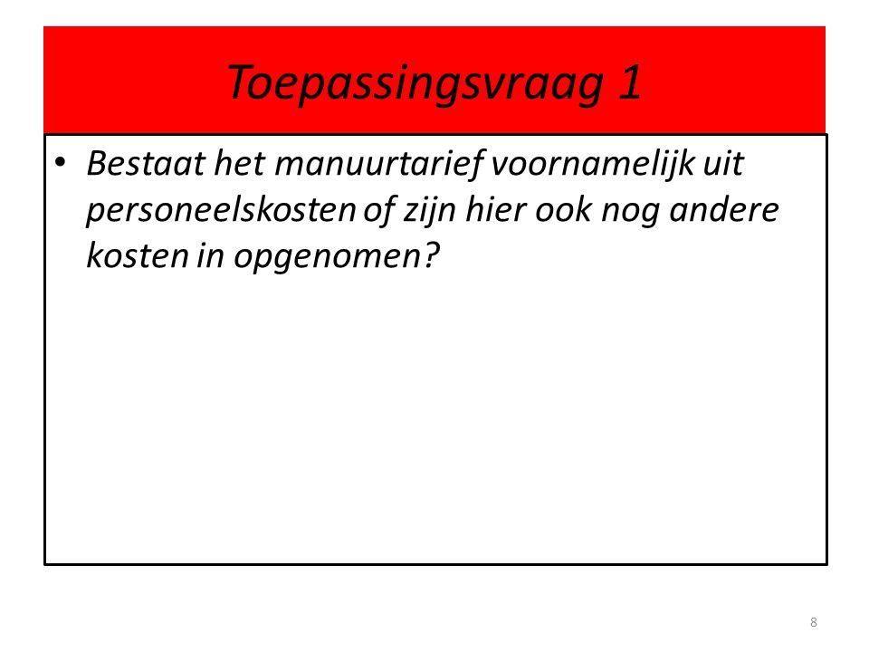 1.2 CT functiescheiding • receptie (beschikkend, doet ook de planning) • werkplaats (uitvoerend) • magazijn (bewarend) • administratie (registrerend en controlerend).