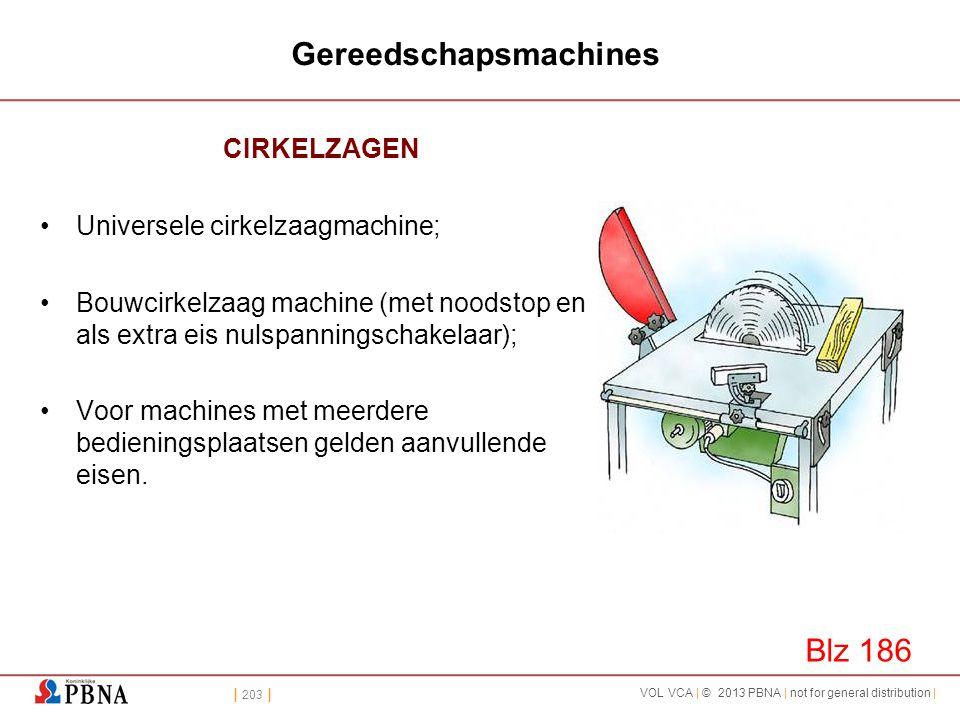 | 203 | VOL VCA | © 2013 PBNA | not for general distribution | Gereedschapsmachines CIRKELZAGEN •Universele cirkelzaagmachine; •Bouwcirkelzaag machine