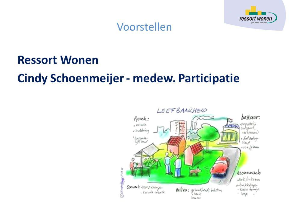Voorstellen Ressort Wonen Cindy Schoenmeijer - medew. Participatie