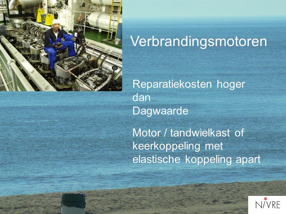 Verbrandingsmotoren Reparatiekosten hoger dan Dagwaarde Motor / tandwielkast of keerkoppeling met elastische koppeling apart