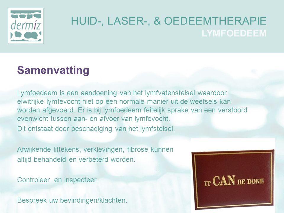 Samenvatting Lymfoedeem is een aandoening van het lymfvatenstelsel waardoor eiwitrijke lymfevocht niet op een normale manier uit de weefsels kan worde