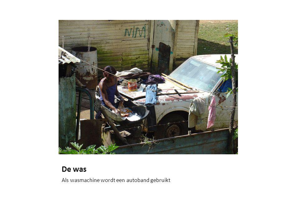 De was Als wasmachine wordt een autoband gebruikt