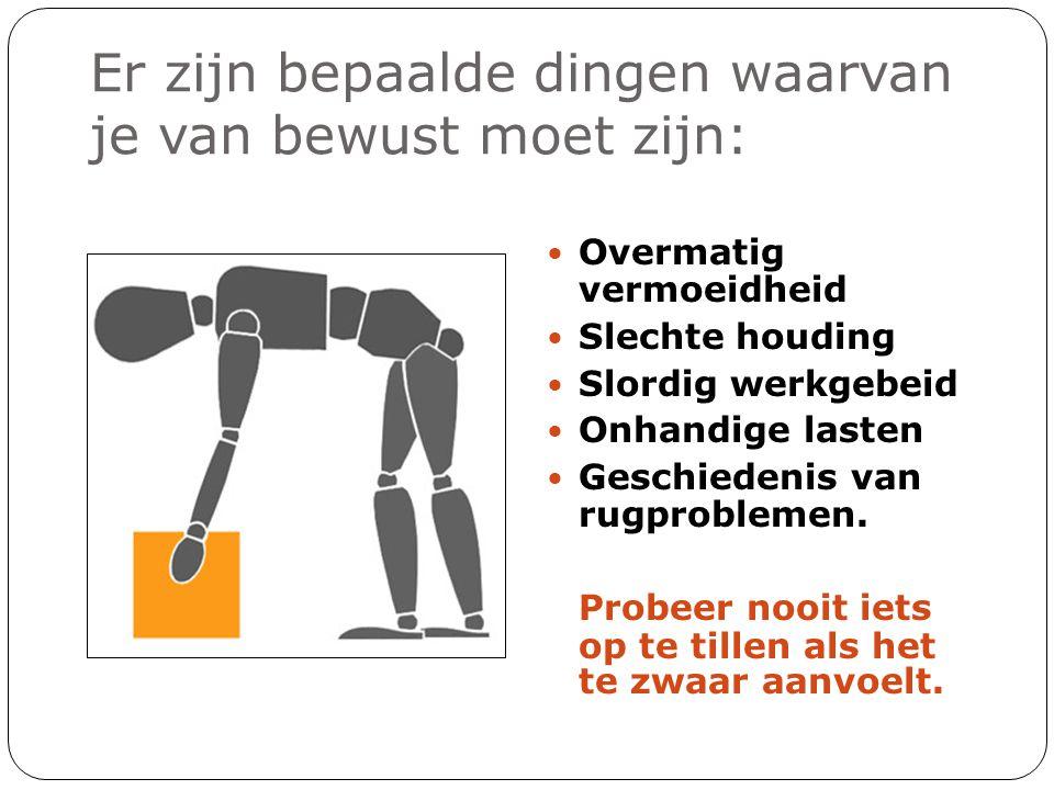 Stap 6.Wanneer je aankomt : • Zet de lading neer en positioneer als het nodig is.