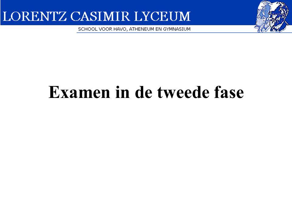 Examen in de tweede fase