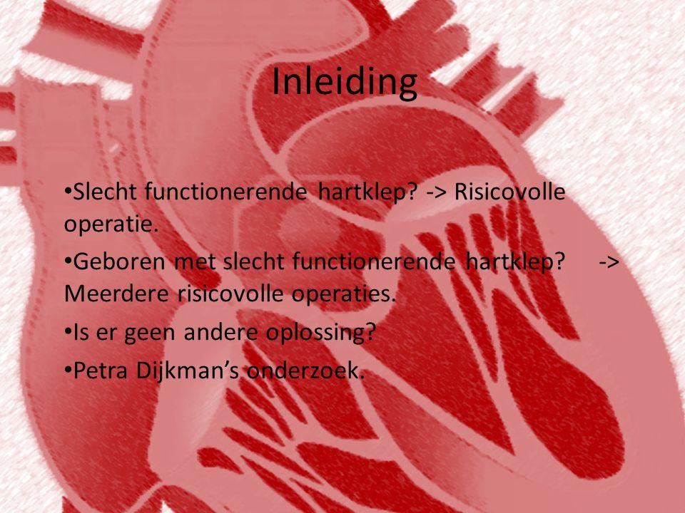 De afbraak van de polymeren • Het lichaam breekt de hartkleppen zelf af, en vervangt deze voor lichaams eigen materiaal.